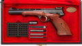 Handguns:Semiautomatic Pistol, Cased Belgian Browning Semi-Automatic Target Pistol....