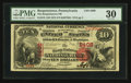National Bank Notes:Pennsylvania, Burgettstown, PA - $10 1875 Fr. 419 The Burgettstown NB Ch. # 2408....