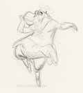 "Animation Art:Production Drawing, Fantasia ""Dance of the Hours"" Hyacinth Hippo AnimationDrawing (Walt Disney, 1940)...."
