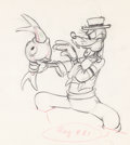 Animation Art:Production Drawing, Goofy and Wilbur Animation Drawing (Walt Disney, 1939)....