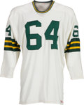 Football Collectibles:Uniforms, Mid-1960's Jerry Kramer Game Worn Green Bay Packers Jersey....