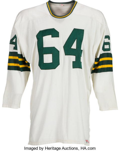 uk availability 4426b f802b Mid-1960's Jerry Kramer Game Worn Green Bay Packers Jersey ...