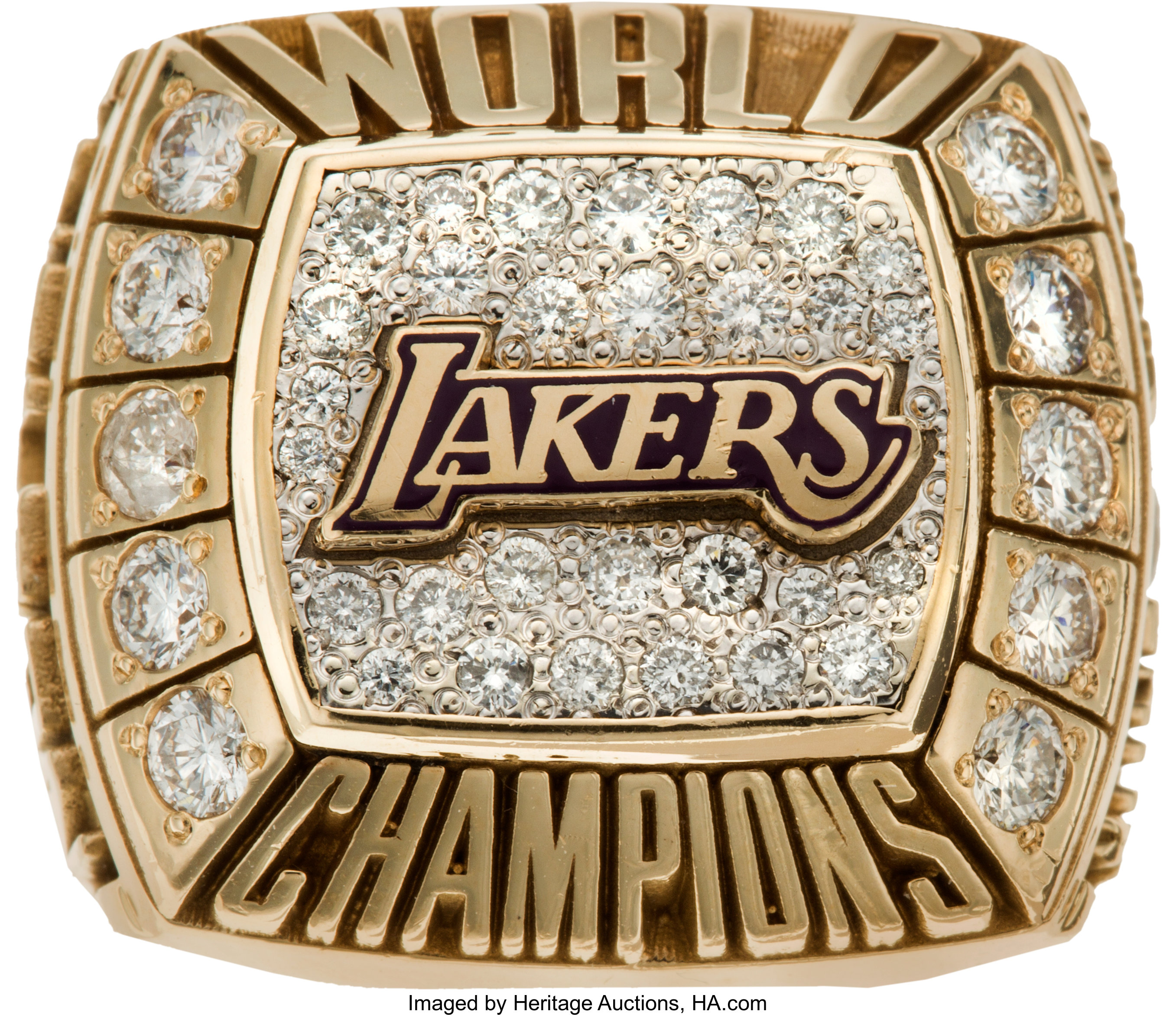 2000 Los Angeles Lakers Nba Championship Ring Basketball Lot 80158 Heritage Auctions