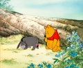 Animation Art:Production Cel, Winnie the Pooh and the Honey Tree Winnie and EeyoreProduction Cel Setup (Walt Disney, 1966)....