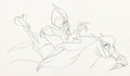 Animation Art:Production Drawing, Aladdin Jafar on Horse Animation Drawing (Walt Disney,1992)....