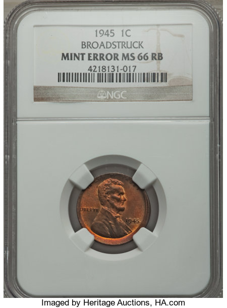 1945 1C MS Lincoln Cents, Wheat Reverse | NGC