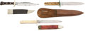 Edged Weapons:Knives, Lot of 3 Bowie Knives....