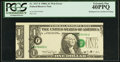 Error Notes:Major Errors, Fr. 1917-F $1 1988A Web Federal Reserve Note. PCGS Extremely Fine40PPQ.. ...