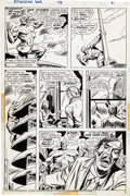 Original Comic Art:Panel Pages, Dick Ayers Astonishing Tales #23 Page Original Art Group of7 (Marvel, 1974).... (Total: 7 Original Art)