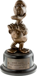 Animation Art:Limited Edition Cel, Duckster Award Statuette (Walt Disney, 1952)....