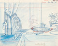 Animation Art:Production Drawing, Woody Woodpecker Layout Drawing (Walter Lantz Productions,1950s)....