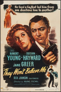 "They Won't Believe Me (RKO, 1947). One Sheet (27"" X 41"") & Lobby Cards (8) (11"" X 14""). Film..."