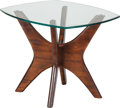 Furniture , An Adrian Pearsall Walnut and Glass Side Table for Craft Associates: Jacks, circa 1960. 19 inches high x 23-3/4 inch... (Total: 2 Items)