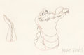 Animation Art:Production Drawing, Peter Pan Tick-Tock the Crocodile Animation Drawing (WaltDisney, 1953)....