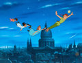 Animation Art:Limited Edition Cel, Peter Pan Flying Over London Animation Art Limited EditionCel #358/500(Walt Disney, 1990s)....
