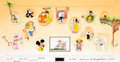 Animation Art:Production Cel, Toon Town 2000 Production Cel Group (Independent, 2000)....