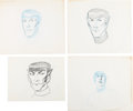 Animation Art:Production Drawing, Star Trek: The Animated Series Spock Character DesignDrawings Group of 9 (Filmation, 1973).... (Total: 11 Original Art)
