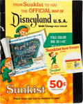 sunkist oranges disneyland map offer poster and counter card lot