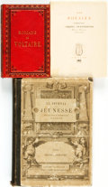 Books:Literature Pre-1900, [French Literature]. Group of Three Books. Various publishers,Circa 1860 - 1956. . ... (Total: 3 Items)