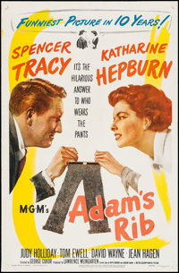 "Adam's Rib (MGM, 1949). One Sheet (27"" X 41.25""). Comedy"
