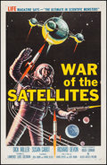 """Movie Posters:Science Fiction, War of the Satellites (Allied Artists, 1958). One Sheet (27"""" X41""""). Science Fiction.. ..."""