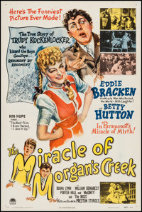 "The Miracle of Morgan's Creek (Paramount, 1944). One Sheet (27"" X 41""). Comedy"