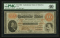 Confederate Notes:1861 Issues, T24 $10 1861 PF-12 Cr. 163.. ...