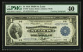 Courtesy Autographed Fr. 730 $1 1918 Federal Reserve Bank Note PMG Extremely Fine 40