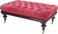 Furniture , A Victorian Button Upholstered Mahogany Bench, early 20th century. 19 inches high x 44 inches wide x 25 inches deep (48.3 x ...