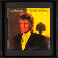 Rod Stewart: Tonight I'm Yours (Warner Bros. Records, 1981). Autographed Album Cover (with Vinyl Record) in Frame (12.5&...