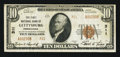 National Bank Notes:Pennsylvania, Gettysburg, PA - $10 1929 Ty. 2 The First NB Ch. # 311. ...