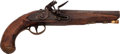 Handguns:Muzzle loading, British Flintlock Pistol by Ketland....