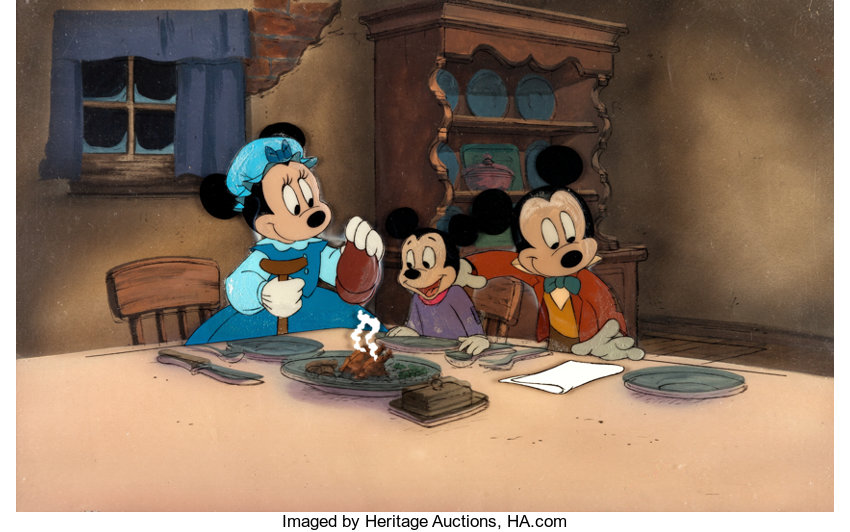 Mickey Mouse A Christmas Carol.Mickey Mouse Mickey S Christmas Carol Production Cel And Key