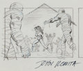 Animation Art:Limited Edition Cel, John Romita, Sr. Spider-Woman Cartoon StoryboardIllustration Original Art (undated)....