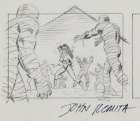 John Romita, Sr. Spider-Woman Cartoon Storyboard Illustration Original Art (undated)