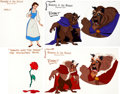Animation Art:Color Model, Beauty and the Beast Color Model Cel Group of 4 (WaltDisney, 1991).... (Total: 4 Items)