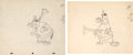 Animation Art:Production Drawing, The Jerkey Turkey Pilgrim Animation Drawing Group of 2 (WaltDisney, 1945).... (Total: 2 Items)