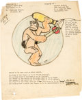 Animation Art:Production Drawing, V. T. Hamlin - Alley Oop WWII Squadron Insignia Illustration andLetter Group of 15 (1943).... (Total: 15 Items)