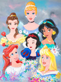 "Animation Art:Production Drawing, Eric Robison ""Disney Princesses"" Painting (1997)...."