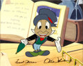 Animation Art:Production Cel, From All of Us to All of You Jiminy Cricket Color Model Cel(Walt Disney, 1958)....