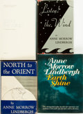 Books:Biography & Memoir, Anne Morrow Lindbergh. Group of Four Books. Various publishers and dates.... (Total: 4 Items)