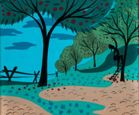Mary Blair Melody Time Johnny Appleseed Concept Art (Walt Disney, 1948)