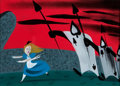 Animation Art:Concept Art, Mary Blair Alice In Wonderland Concept Art (Walt Disney, 1951)....