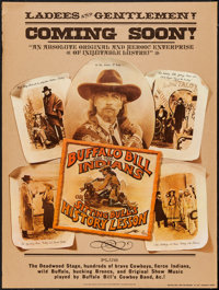 """Buffalo Bill and the Indians, or Sitting Bull's History Lesson (United Artists, 1976). Poster (30"""" X 40"""") Adva..."""