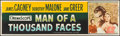 "Movie Posters:Drama, Man of a Thousand Faces (Universal International, 1957). Banner(24"" X 82.25""). Drama.. ..."