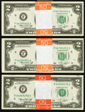 Fr. 1935-F $2 1976 Federal Reserve Notes. Seventy-five Examples. Choice About Uncirculated or Better