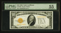 Small Size:Gold Certificates, Fr. 2400 $10 1928 Gold Certificate. PMG About Uncirculated 55.. ...