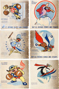 Animation Art:Poster, World War II Insignia War Bond Poster Group of 6 (Walt Disney, c.1940s).... (Total: 6 Items)