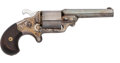 Handguns:Derringer, Palm, Moore's Teat-Fire Pocket Revolver by National Arms Co....