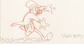 Animation Art:Production Drawing, Virgil Ross Hare Trimmed Bugs Bunny Production Drawing (Warner Brothers, 1953)....